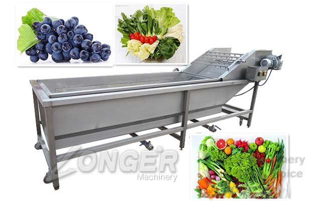 Air Bubble Vegetable Washing Machine|Commercial Fruit Cleaning Equipment