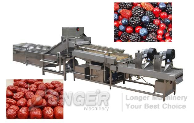 Industrial Dates Washing and Drying Machine Line