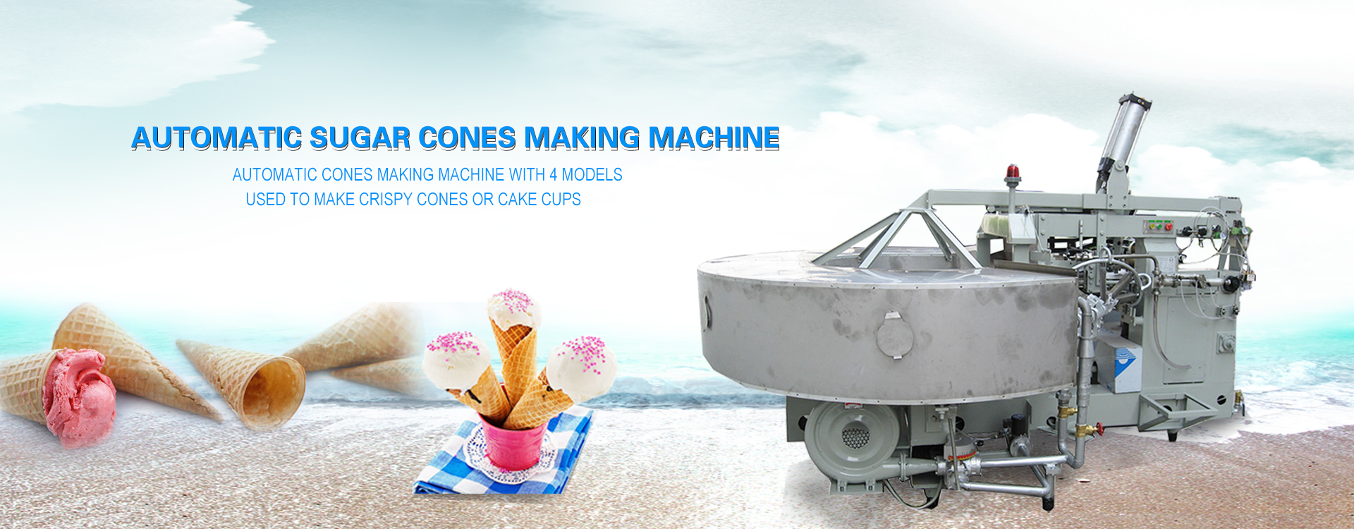 Ice Cream Biscuit Cones Making Machine