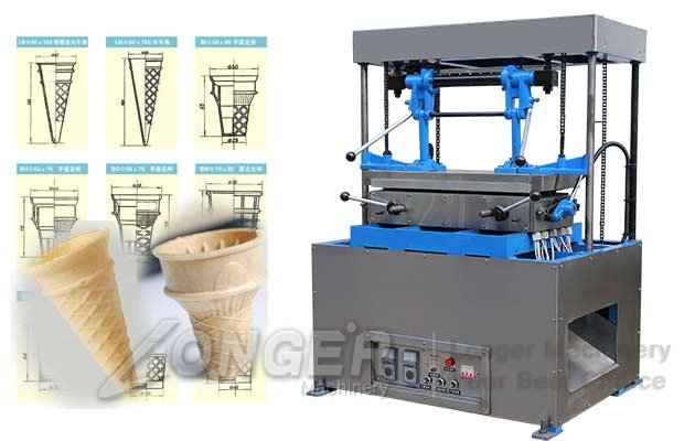 Ice Cream Wafer Cones Maker Machine P