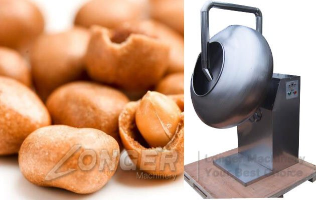 Nuts Coating Machine|Automatic Coated Peanut Processing Machine