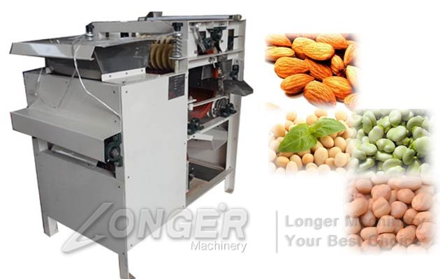 Wet Peanuts Peeling Machine|Blanched Almond Badam Chickpeas Peeler Equipment