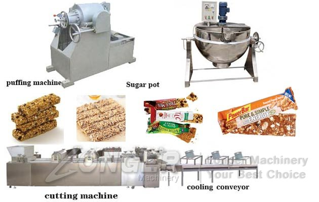 Puffed Cereal Bar Production Line|Automatic Energy Granola Bar Making Plant