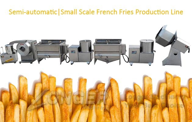 Semi Automatic Potato Chips Machinery|Small Scale French Fries Line