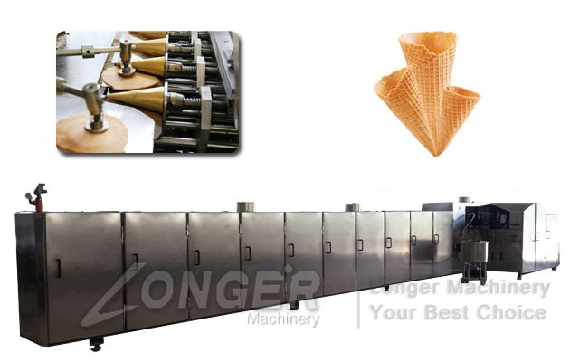 Ice Cream Waffle Cones Production Line|Automatic Sugar Cones Baking Plant