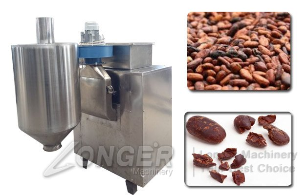 Automatic Cocoa Beans Peeling Crushing Machine|Industrial Cacao Coffee Beans Peeler