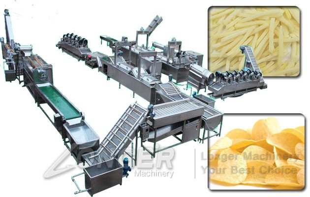 Automatic Frozen French Fries Machine|Potato Chips Production Line