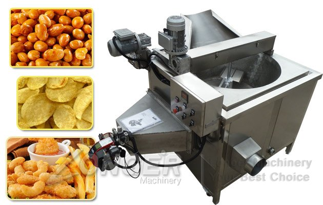 Automatic Snack Fryer Machine|Nuts Chips Namkeen Fryer Machine