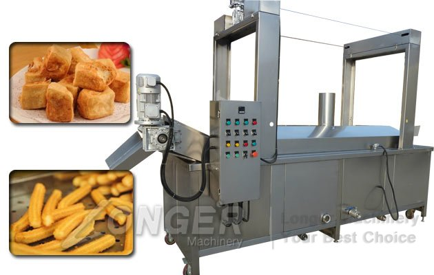 Industrial Continuous Fryer For Chips Peanuts Gulab Jamun