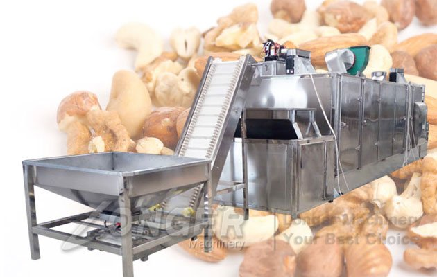 Continuous Hazelnut Roasting Machine|Industrial Roaster For Nuts