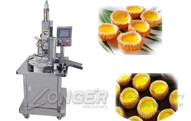 Semi-automatic Egg Tart Making Machine|Commercial Egg Tart Shell Maker Machine