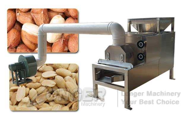 Peanut Peeling and Half Cutting Machine|Roasted Groundnuts Halves Machine
