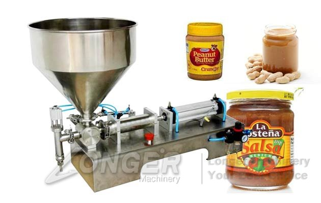 Stainless Steel Horizontal Paste Filling Machine|Mayonnaise Bottling Machine