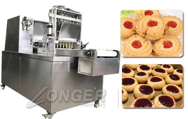 Automatic Jam-filled Cookies Production Machine|Jelly-filled Biscuit Snack Production Line
