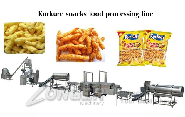 Automatic Kurkure Snacks Making Machi