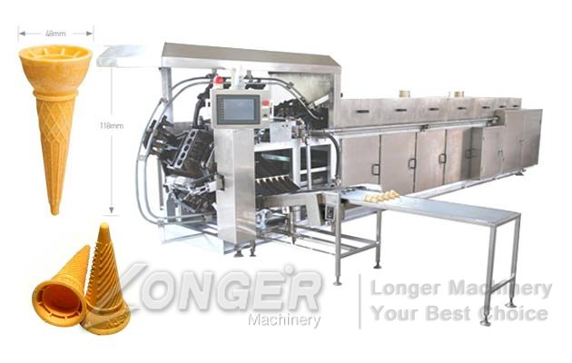 Automatic Ice Cream Wafer Cones Processing Line|Cones Wafer Cups Making Plant Price