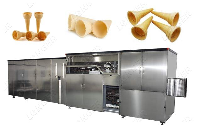 Automatic Ice Cream Wafer Cones Processing Line Price