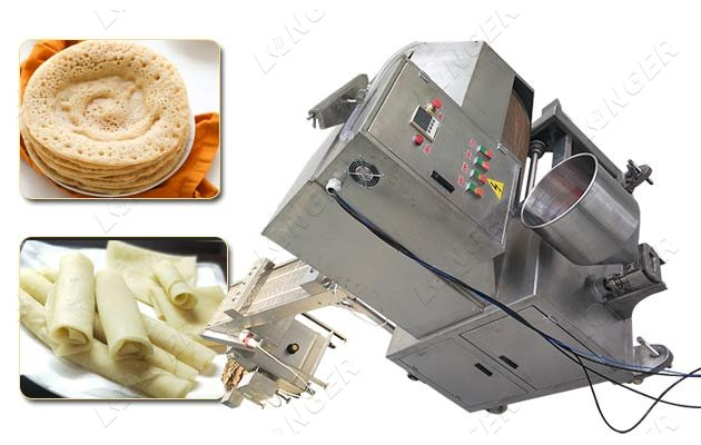 Commercial Spring Roll Wrapper Machine Lumpia Wrapper Making Machine
