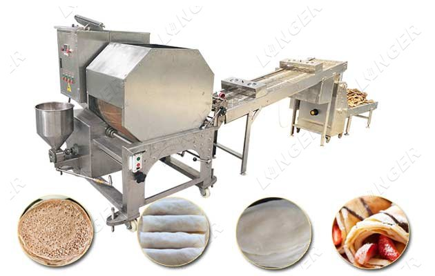 Automatic Injera Lumpia Spring Roll Wrapper Machine Supplier