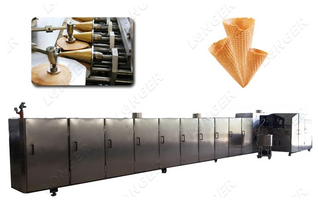 Automatic Ice Cream Waffle Sugar Cones Production Line