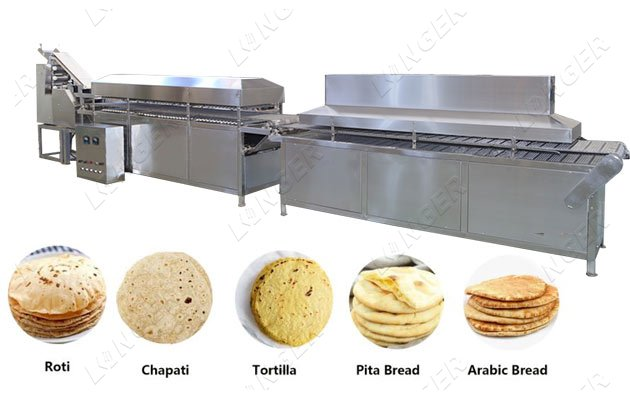 <b>Automatic Arabic Khubus Pita Bread Production Machine</b>