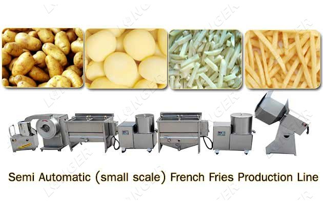 Semi Automatic Potato Chips Machinery