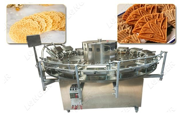 Industrial Pizzelle Round Cookies Making Machine