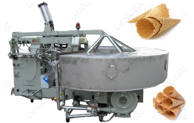 Automatic Waffle Biscuit Cones Making Machine 1800pcs/h