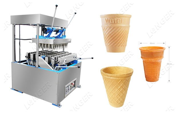 Edible Wafer Coffee Cups Making Machi