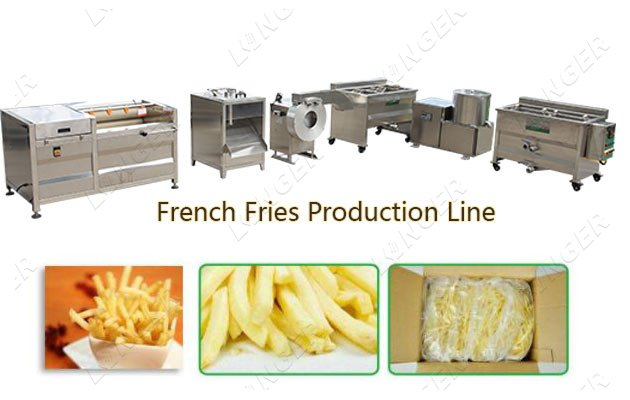 Semi Automatic French Fries Making Ma