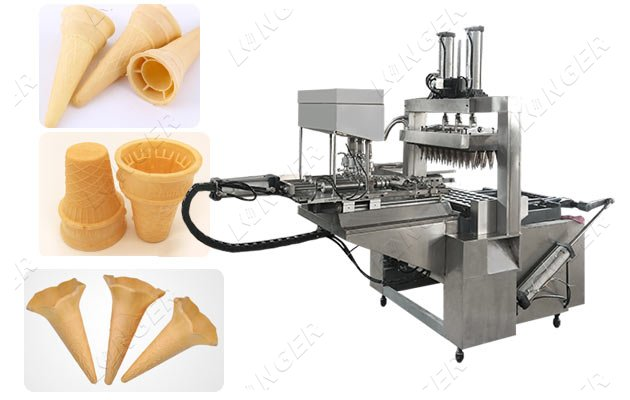 Industrial Ice Cream Wafer Cone Makin
