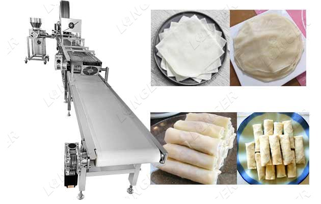 Fully Automatic Spring Rolls Making M