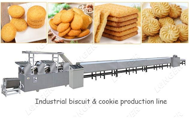 Industrial Crispy Biscuit Cookies Making Production Line