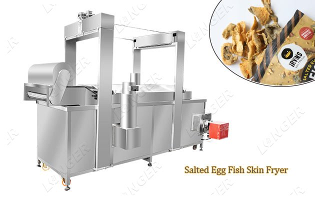 Crispy Fish Skin Automatic Fryer Mach