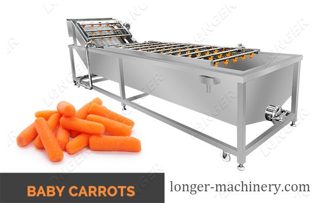 Baby Carrot Bubble Type Washing Cleaning Machine For Sale