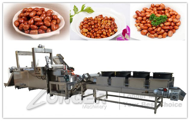 Fried peanut processing machine