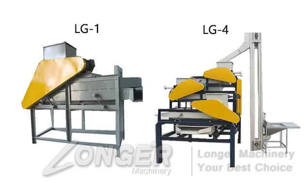 almond grade dehulling machine