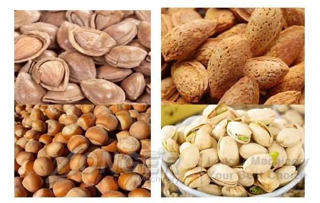 hazelnut almond badam shelling machine