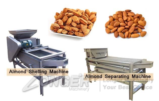 almond badam shelling and kernels separating machine