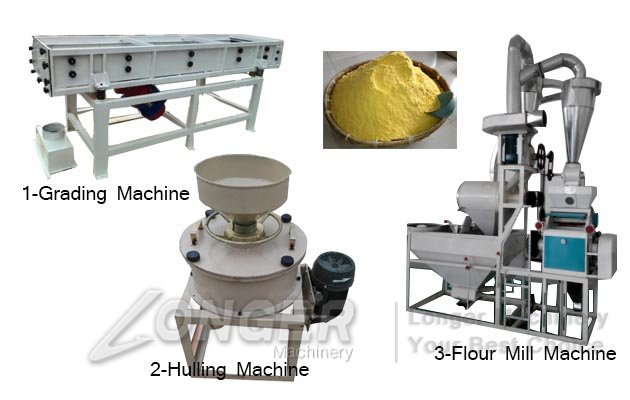 buckwheat flour processing machine