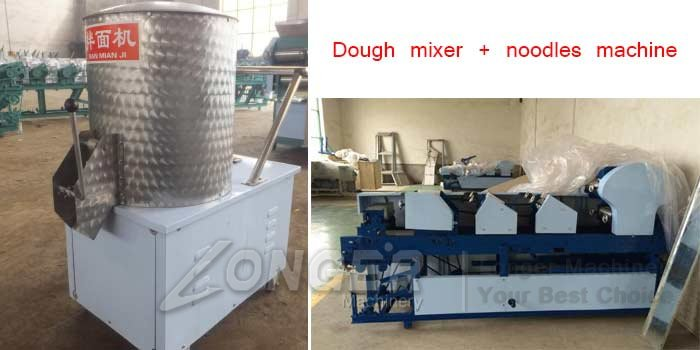 dough mixer and noodles making machine