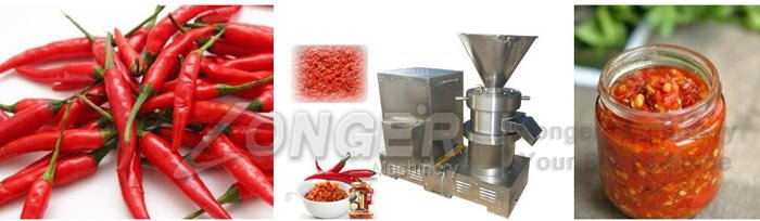 chili sauce grinding machine
