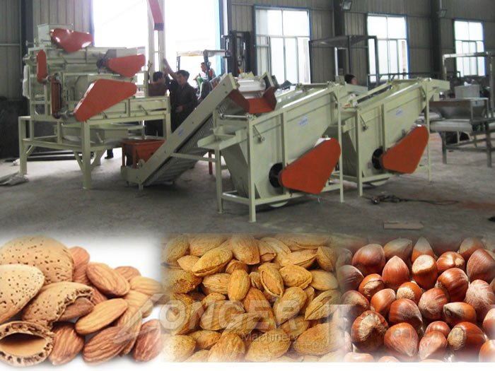 almond cracking shelling machine