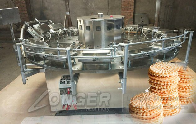 round waffles making machine