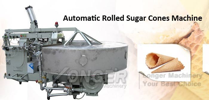 rolled sugar cones making machine