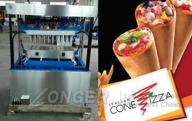 pizza cone forming machine