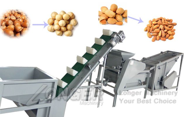 almond badam shelling cracking machine