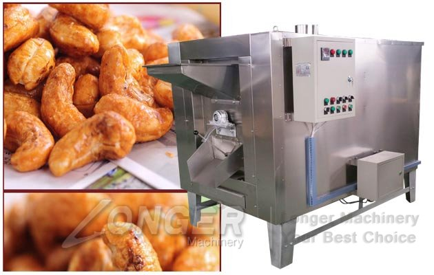 cashew nuts roasting machine