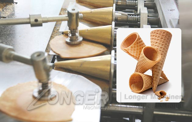automatic ice cream cones baking machine