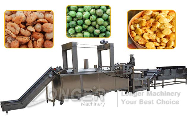 nuts frying line